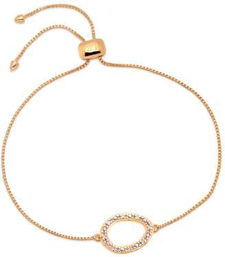 Lola Rose London - Curio Diamond Mini Oval Open Bracelet Rose Gold
