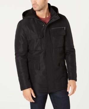 Kenneth Cole Men's Full-Zip Hooded Overcoat