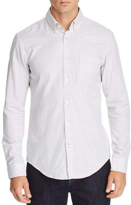 BOSS Rod Micro-Check-Print Slim Fit Button-Down Shirt
