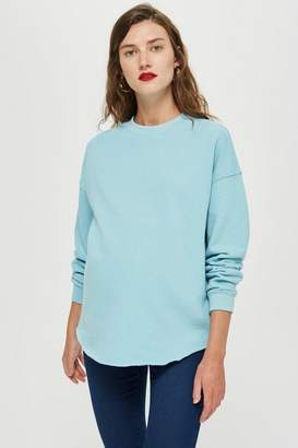Topshop **Maternity Raw Hem Sweatshirt