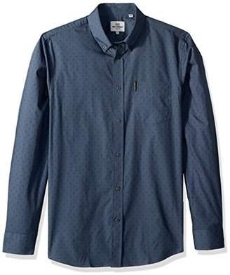 Ben Sherman Men's Long Sleeve Polka DOT Print Shirt
