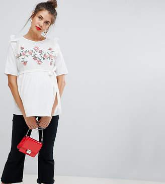 Mama Licious Mama.licious Mamalicious maternity floral smock blouse