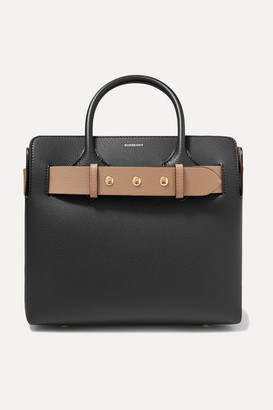 Burberry Small Belted Textured-leather Tote - Black