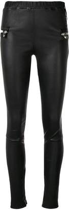 Philipp Plein lambskin skinny trousers