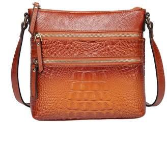 Vicenzo Leather Tara Croc Embossed Leather Bag
