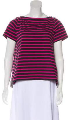 Sacai Striped Short Sleeve Top