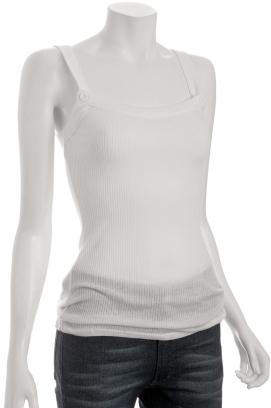 Generra white rib knit 'Cabana' tank