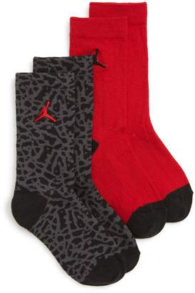 Nike 2-Pack Jumpman Elephant High Crew Socks