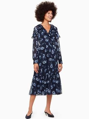 Kate Spade Prairie rose clip midi dress