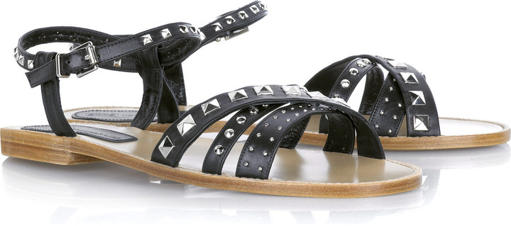 Vanessa Bruno Athé Studded leather sandals