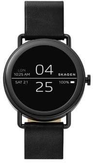 Skagen Falster Leather Strap Touchscreen Smartwatch