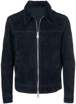 Ami Alexandre Mattiussi Suede Leather Jacket With Quilted Lined