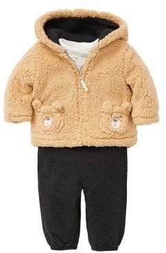 Little Me Baby Boy's Two-Piece Faux Fur Jacket & Pants Set