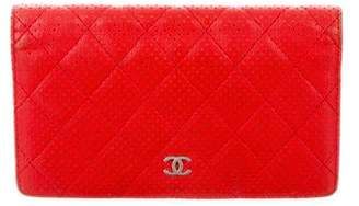 Chanel Perforated Yen Wallet