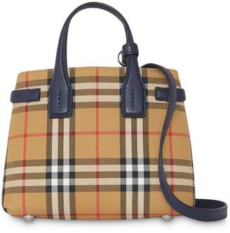 Burberry The Baby Banner in Vintage Check and Leather