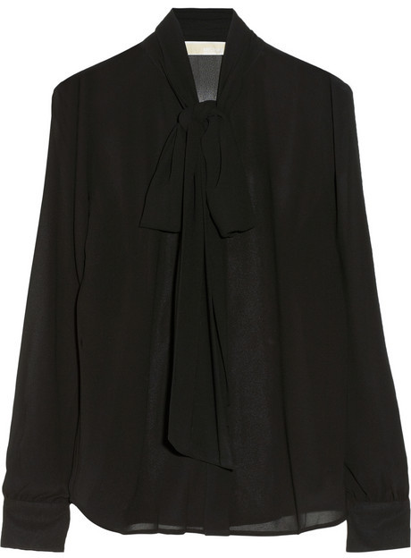 MICHAEL Michael Kors Georgette pussy-bow blouse