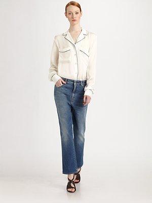 Stella McCartney Silk Pajama Blouse