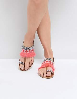 Park Lane Leather Flat Sandals