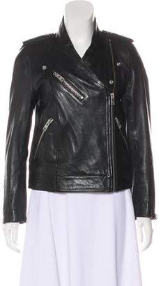Zadig & Voltaire Leather Collarless Jacket