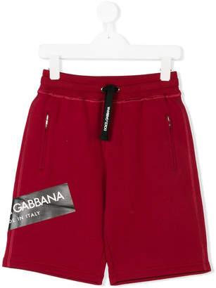 Dolce & Gabbana branded track short