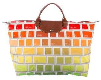 Jeremy Scott x Longchamp Woven Keyboard Le Pilage Bag