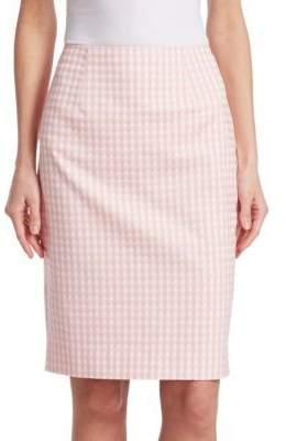 Nanette Lepore Posh Gingham Plaid Skirt