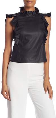 Rebecca Taylor Vegetarian Leather Top