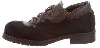 Dolce & Gabbana Leather & Ponyhair Derby Shoes
