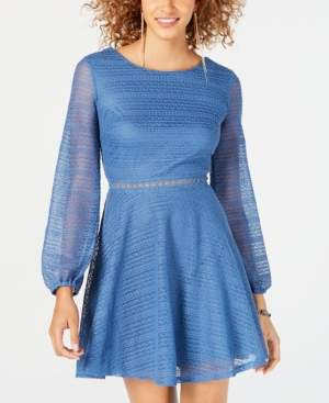 City Studios Juniors' Knit Fit & Flare Dress