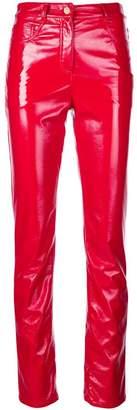 Alberta Ferretti skinny vinyl pants