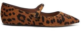 Tabitha Simmons - Hermione Leopard Calf Hair Flats - Womens - Leopard