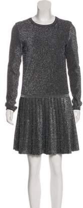 Chanel Pleated Mini Dress w/ Tags Metallic Pleated Mini Dress w/ Tags