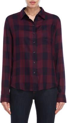 Kensie Plaid Pocket Shirt
