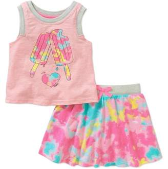 Cherokee Toddler Girl Rib Tank and Scooter 2-Piece Set