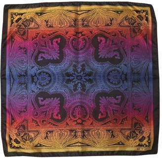 Etro Paisley Printed Silk Satin Pocket Square