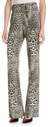 Badgley Mischka Boot Cut Leopard-Print Pants