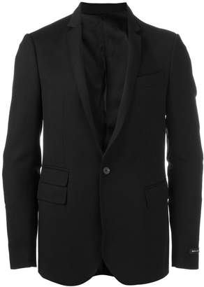 Les Hommes quilted elbow blazer