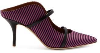 Malone Souliers Maureen Stripe Jacquard Mules - Womens - Pink Stripe
