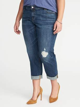 Old Navy Mid-Rise Plus-Size Boyfriend Skinny Distressed Jeans