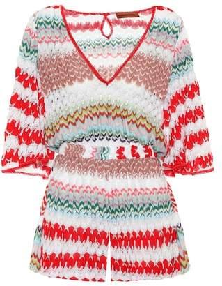 Missoni Mare Striped crochet jumpsuit