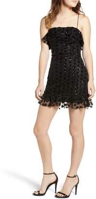Rowa Row A Sequin Dot Minidress