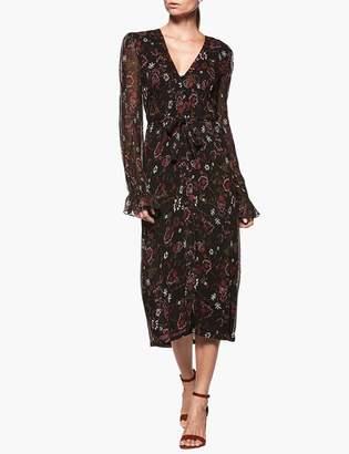 Paige Lilou Midi Dress - Black Painted Chintz Floral