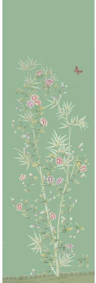 """Tapete Aus Seide Und Papier """"Spring Bamboo Garden"""""""