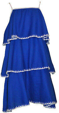 Finn NEW Blanket stitch dress in blue with white Girl's by Willow and