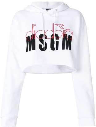 MSGM MGSM X Diadora branded hoodie