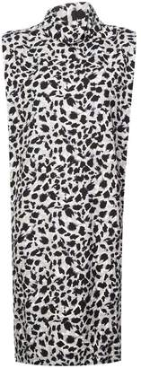 Carmen March leopard print shift dress