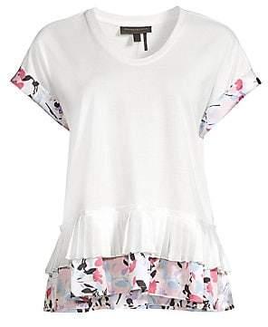 5749e7f85d1 Donna Karan Women's Cotton-Blend Peplum Top