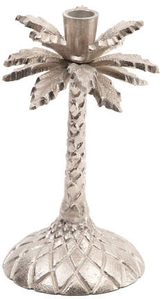 9in Palm Tree Candlestick