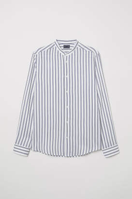 H&M Striped Slim-fit Shirt - White