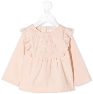 Chloé Kids embroidered detail top